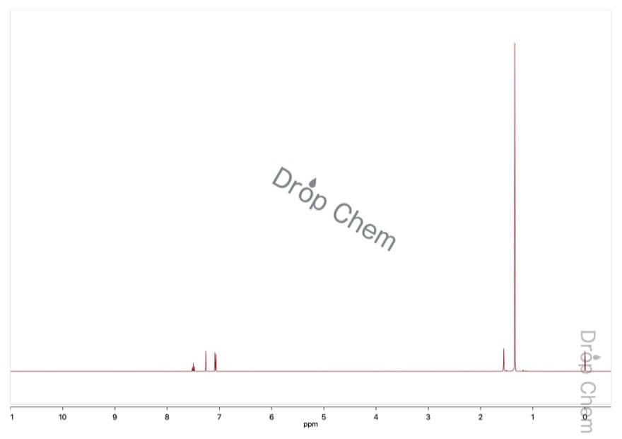 2,6-ジ-tert-ブチルピリジンの1HNMRスペクトル