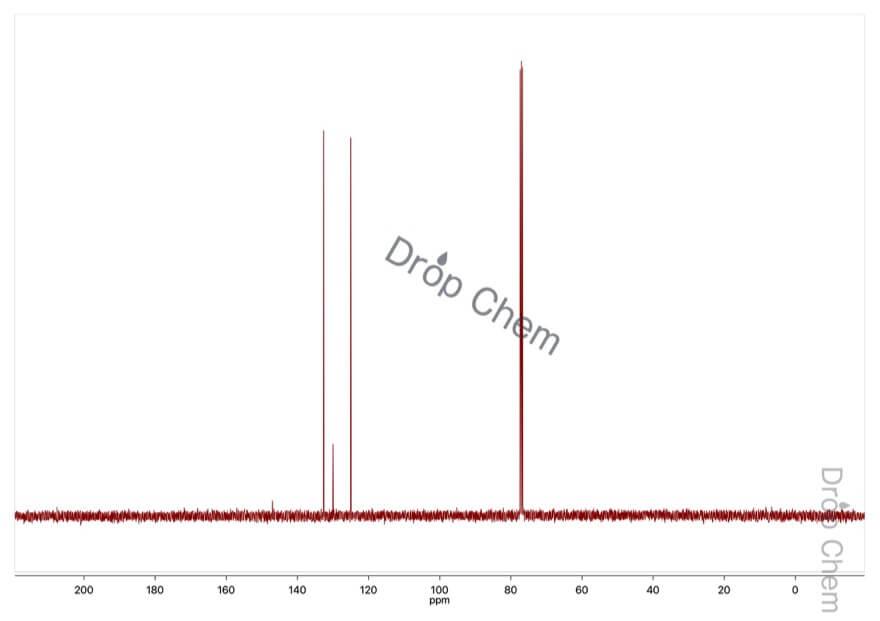 1-ブロモ-4-ニトロベンゼンの13CNMRスペクトル