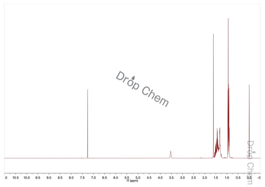 3-ヘプタノールの1HNMRスペクトル