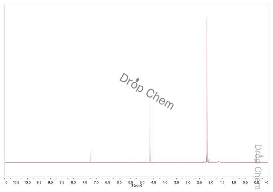 アセトキシ-2-プロパノンの1HNMRスペクトル