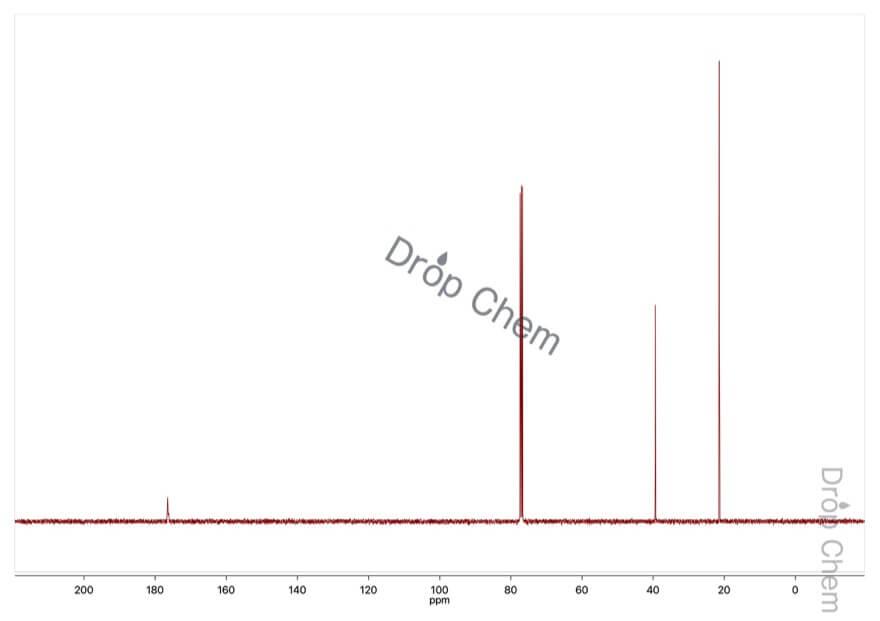 2-ブロモプロピオン酸の13CNMRスペクトル