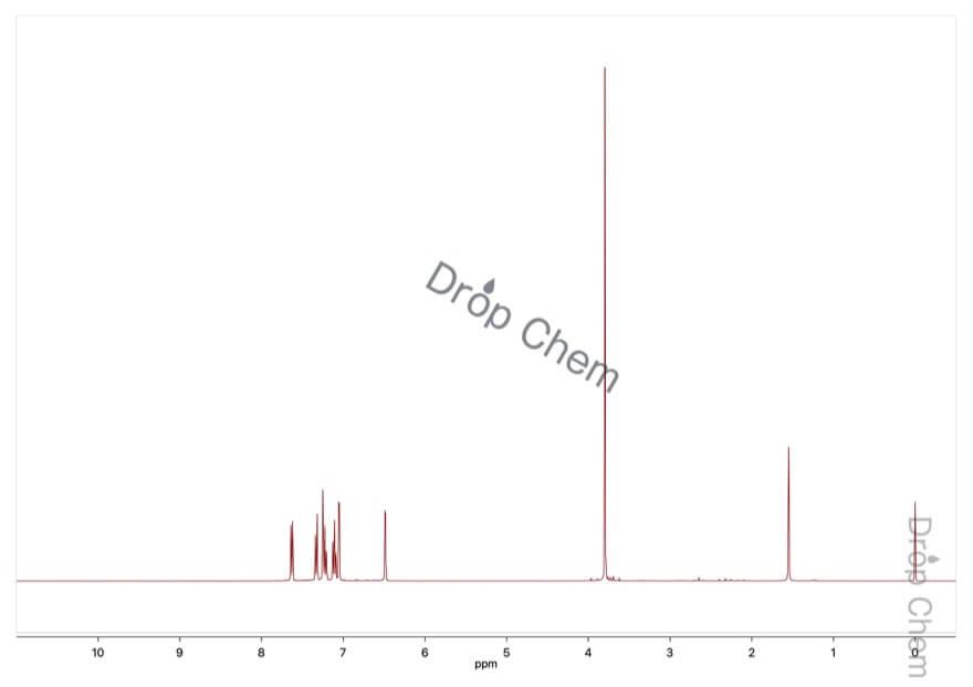 1-メチルインドールの1HNMRスペクトル