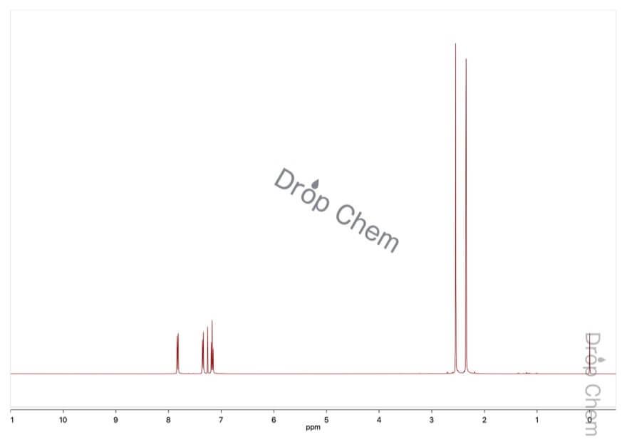 2,3-ジメチル安息香酸の1HNMRスペクトル
