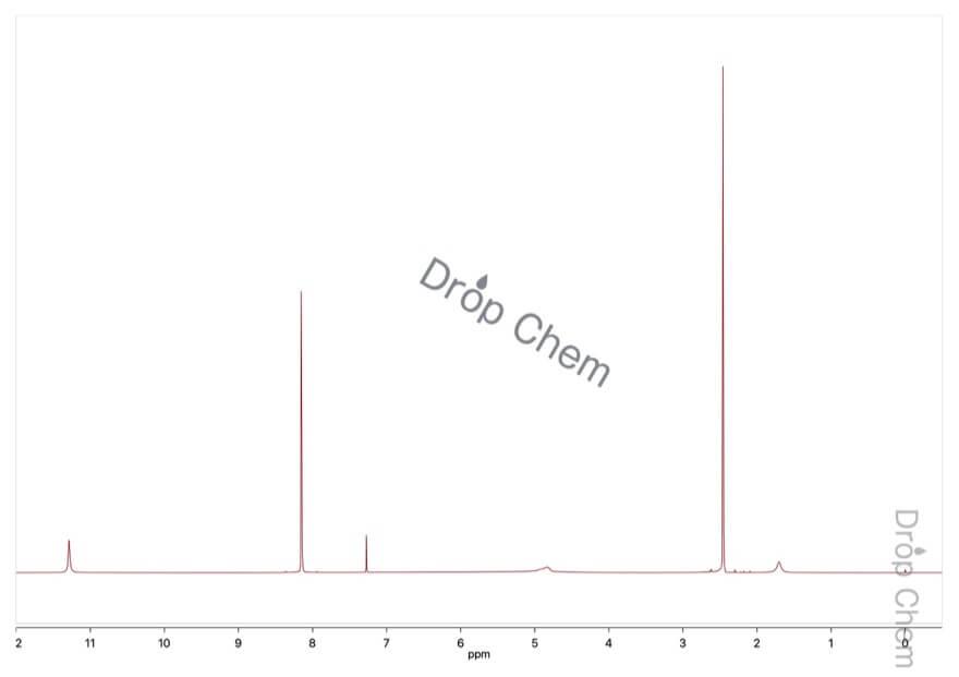 2,6-ジニトロ-p-クレゾールの1HNMRスペクトル