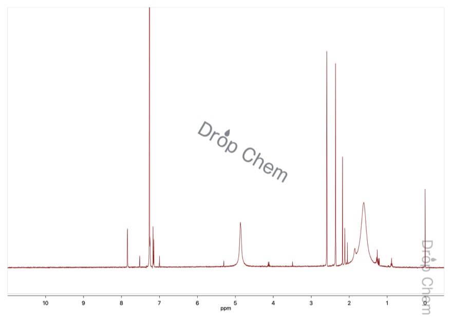 2,5-ジメチル安息香酸の1HNMRスペクトル