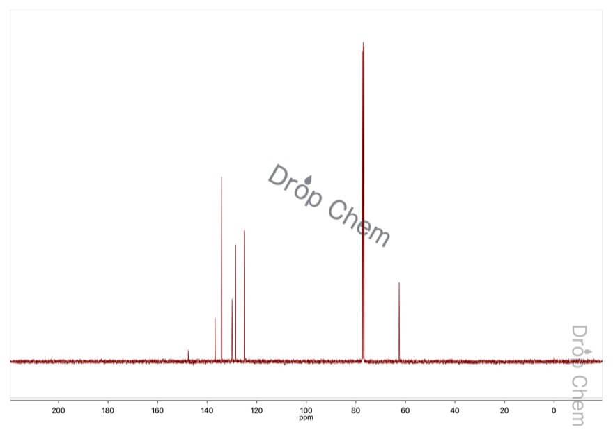 2-ニトロベンジルアルコールの13CNMRスペクトル