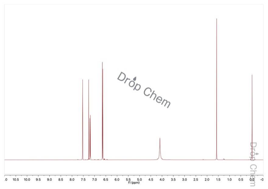 2,4-ジブロモアニリンの1HNMRスペクトル