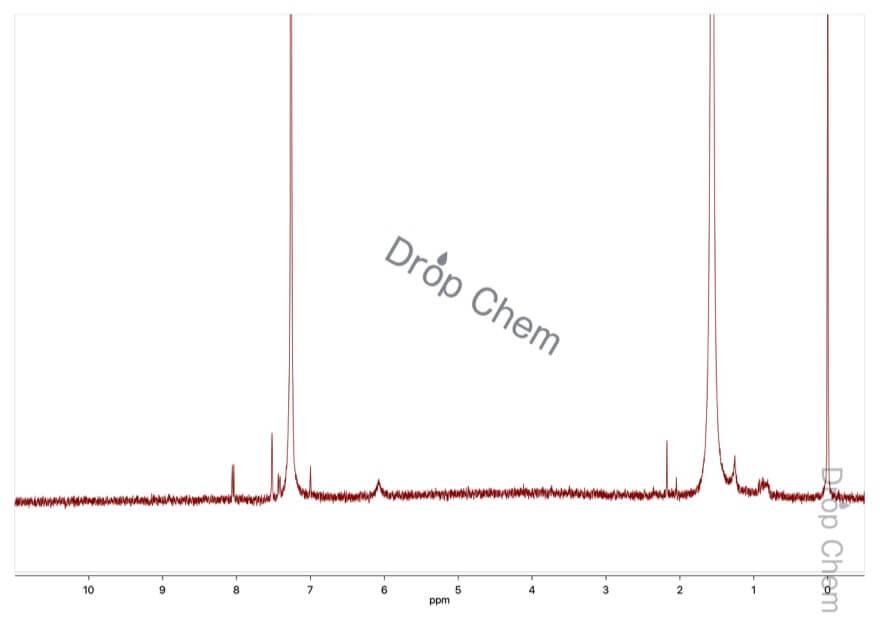 4-ニトロアントラニル酸の1HNMRスペクトル(CDCl3)
