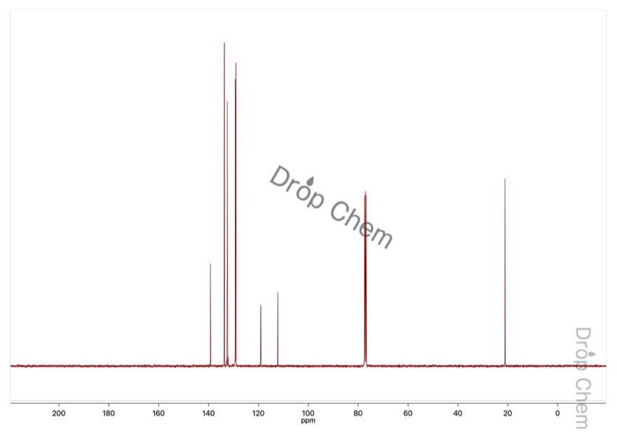 3-シアノトルエンの13CNMRスペクトル