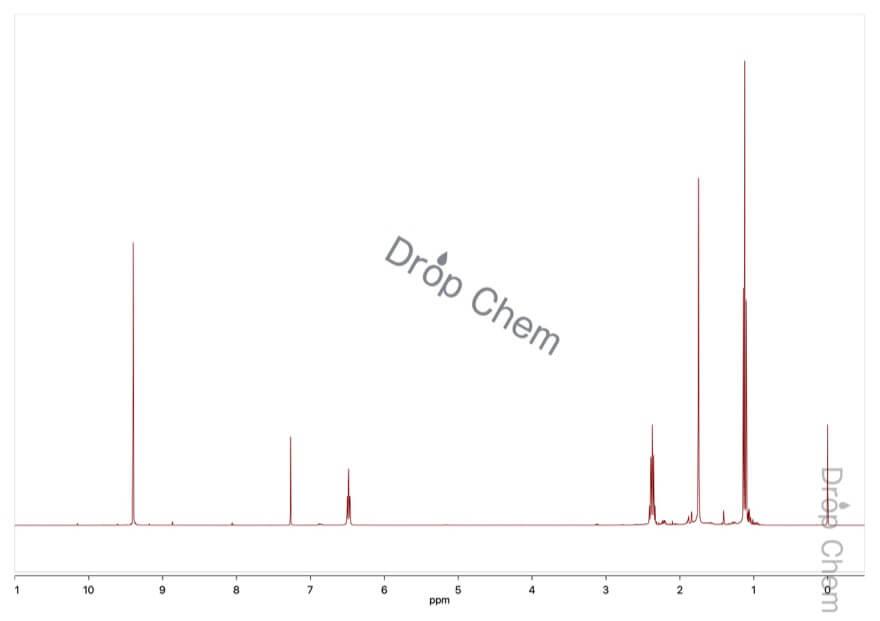 2-メチル-2-ペンテナールの1HNMRスペクトル