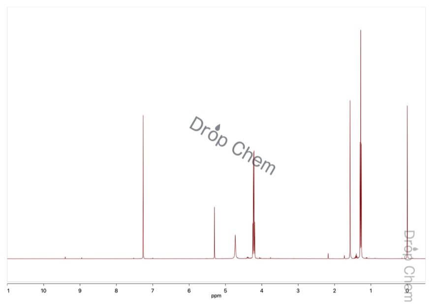 ジアゾ酢酸エチルの1HNMRスペクトル