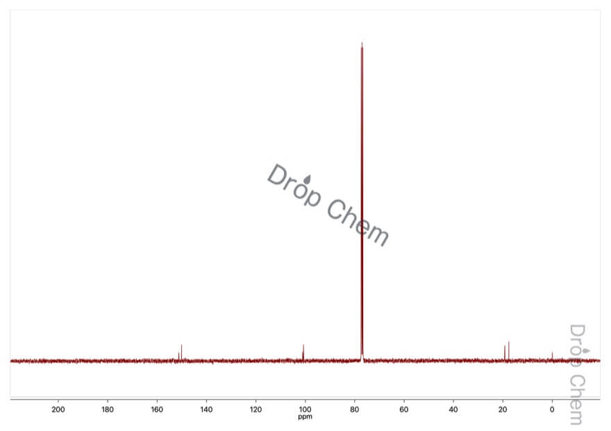 trans-クロトノニトリルの13CNMRスペクトル