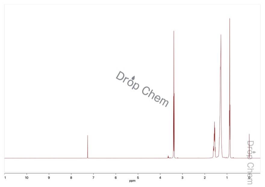 n-オクチルエーテルの1HNMRスペクトル