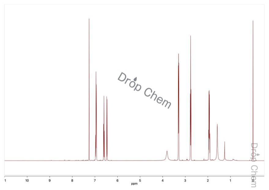 1,2,3,4-テトラヒドロキノリンの1HNMRスペクトル