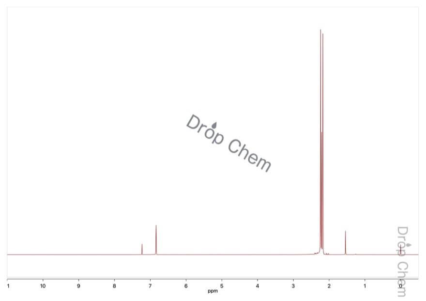 ペンタメチルベンゼンの1HNMRスペクトル