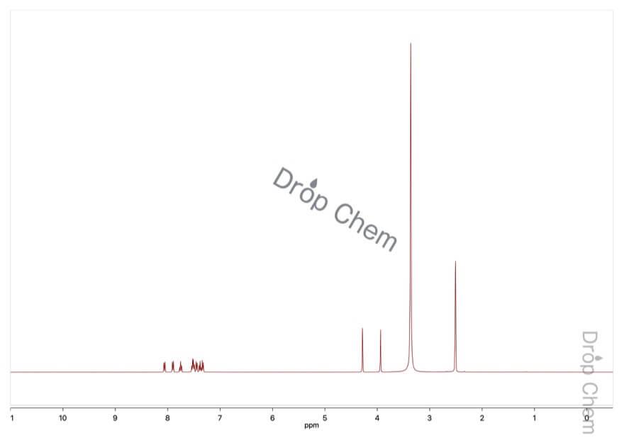 ホモフタル酸無水物の1HNMRスペクトル