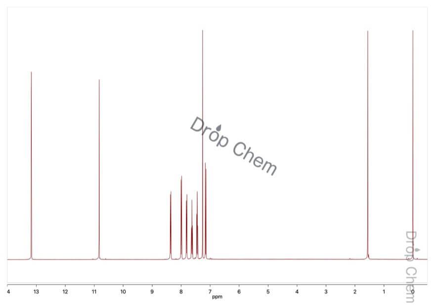 2-ヒドロキシ-1-ナフトアルデヒドの1HNMRスペクトル