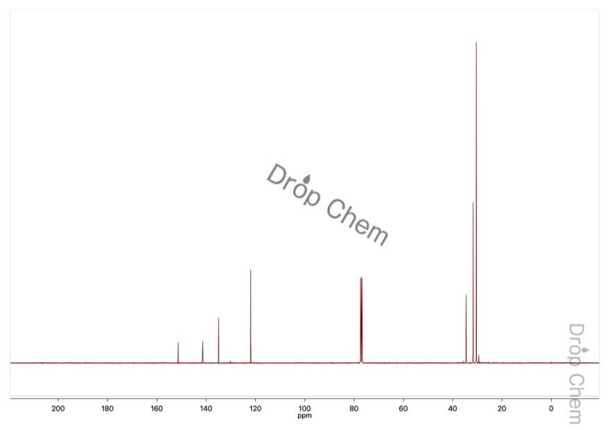 2,4,6-トリ-tert-ブチルフェノールの13CNMRスペクトル