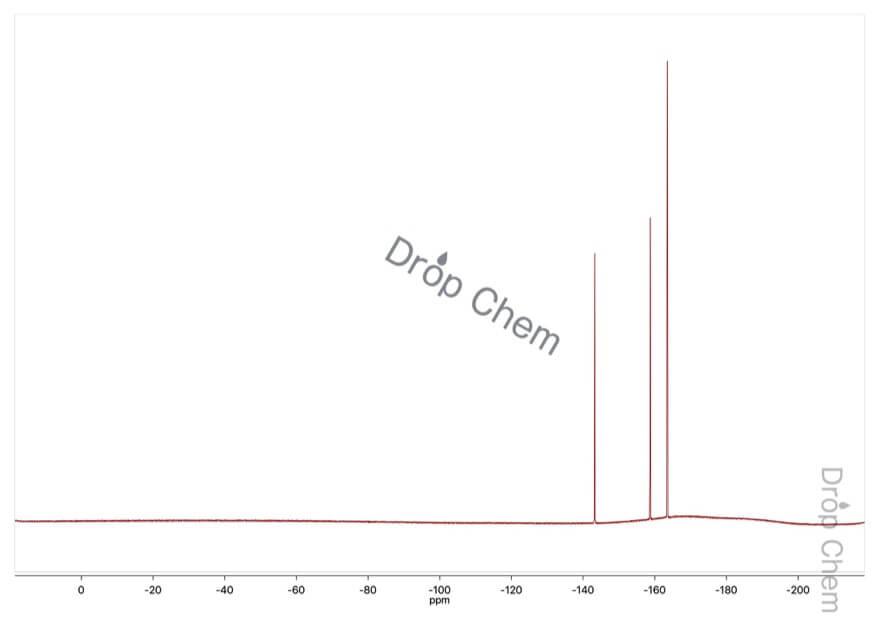2,3,4,5,6-ペンタフルオロトルエンの19FNMRスペクトル