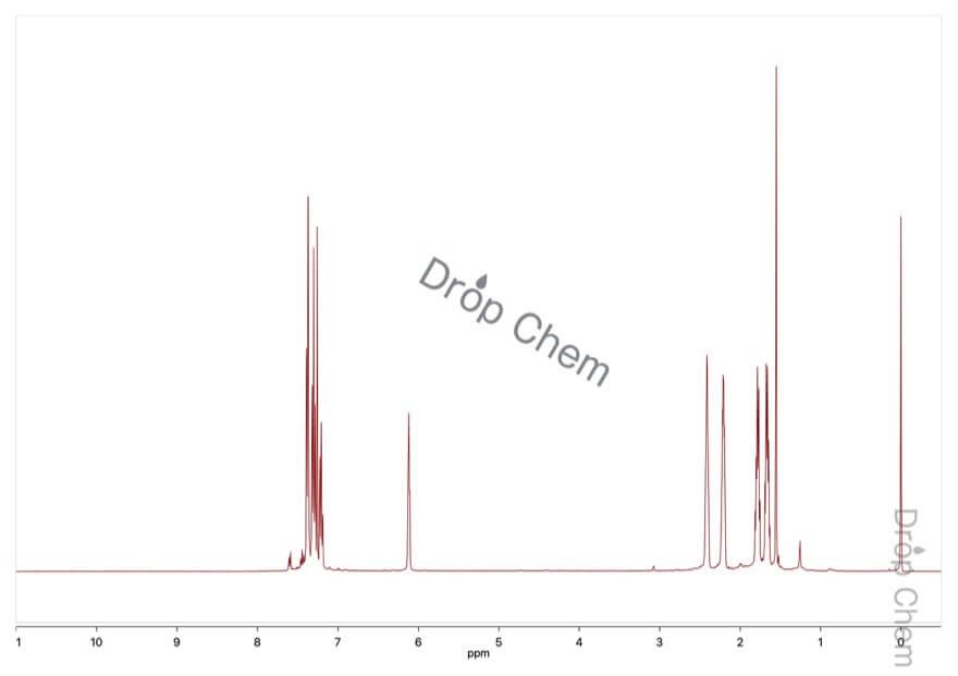 1-フェニル-1-シクロヘキセンの1HNMRスペクトル