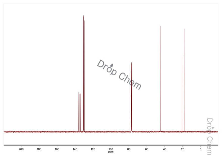 2,5-ジメチルベンジルクロリドの13CNMRスペクトル
