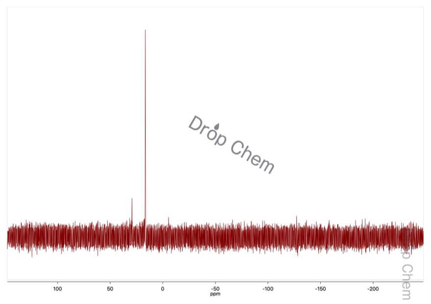 2-(トリフェニルホスホラニリデン)アセトフェノンの31PNMRスペクトル