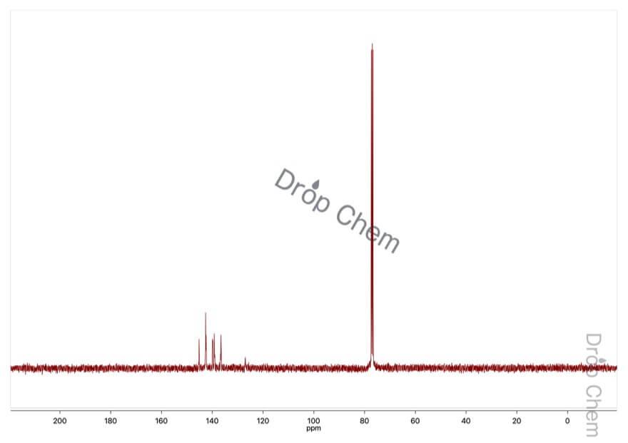ペンタフルオロニトロベンゼンの13CNMRスペクトル
