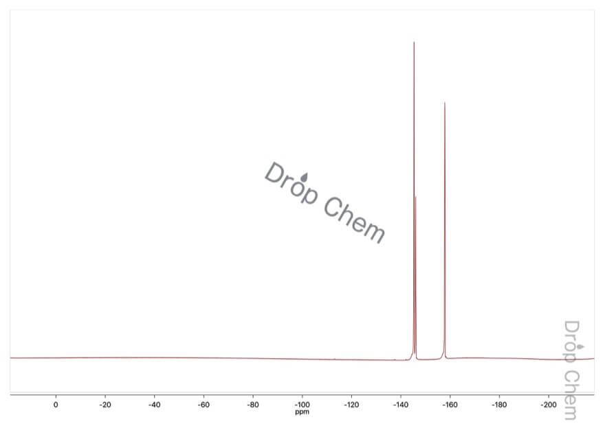 ペンタフルオロニトロベンゼンの19FNMRスペクトル