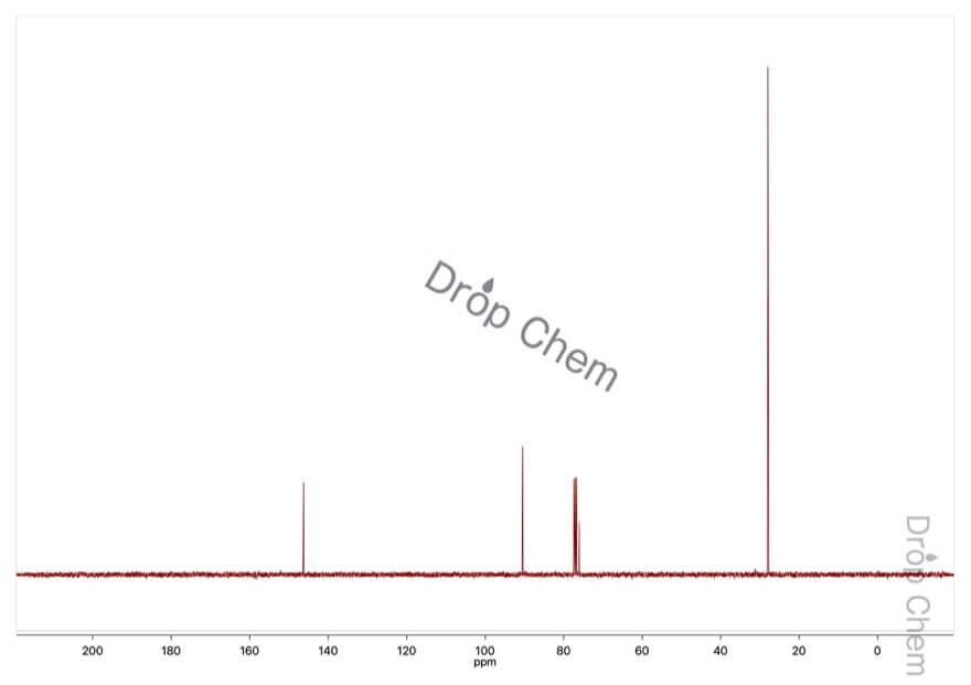 1-tert-ブトキシエテンの13CNMRスペクトル
