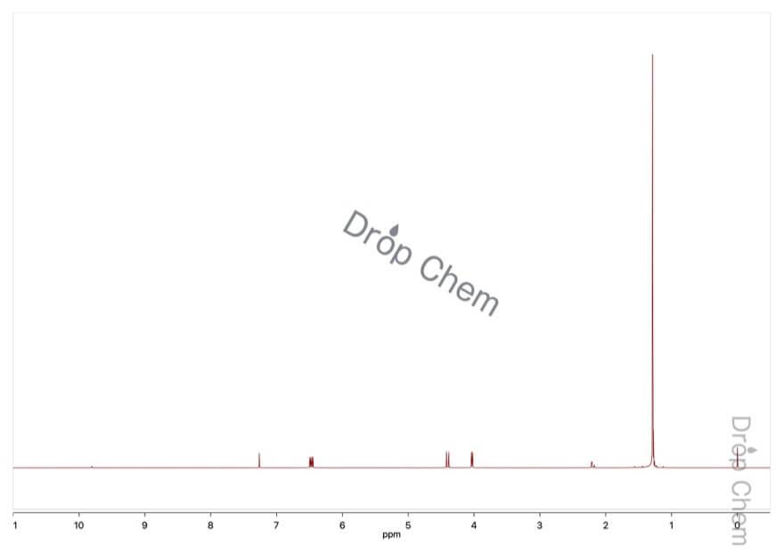 1-tert-ブトキシエテンの1HNMRスペクトル