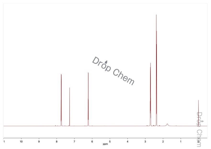 2-シクロペンテン-1-オンの1HNMRスペクトル