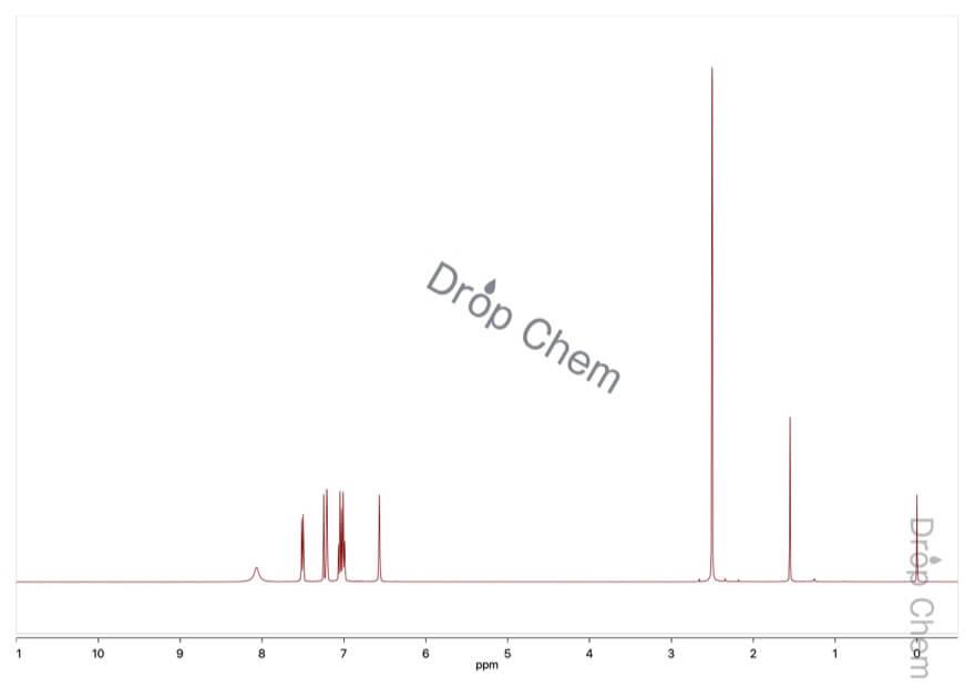 7-メチルインドールの1HNMRスペクトル
