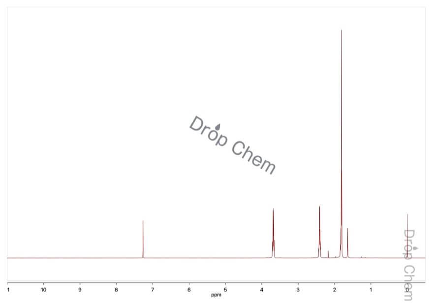3-ペンチン-1-オールの1HNMRスペクトル