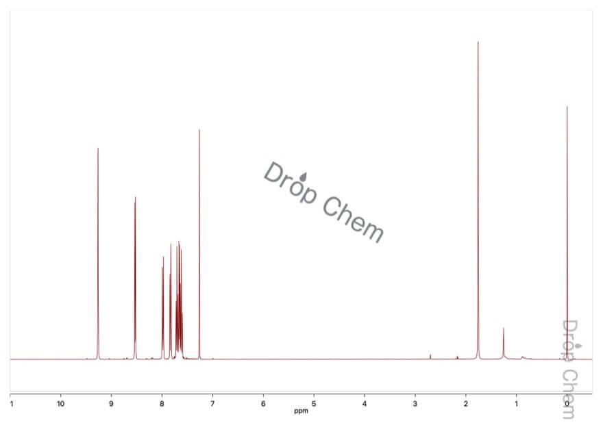 イソキノリンの1HNMRスペクトル