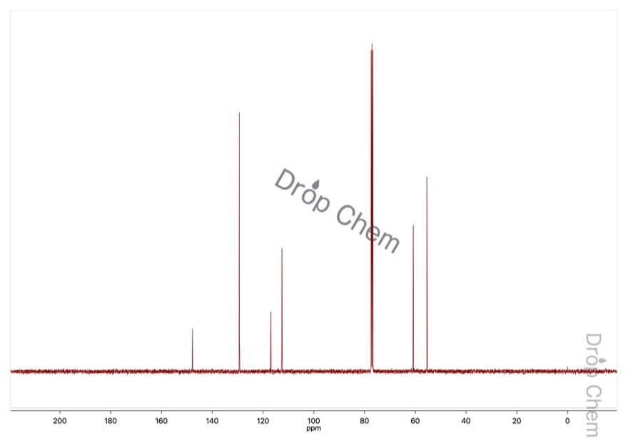 N-フェニルジエタノールアミンの13CNMRスペクトル