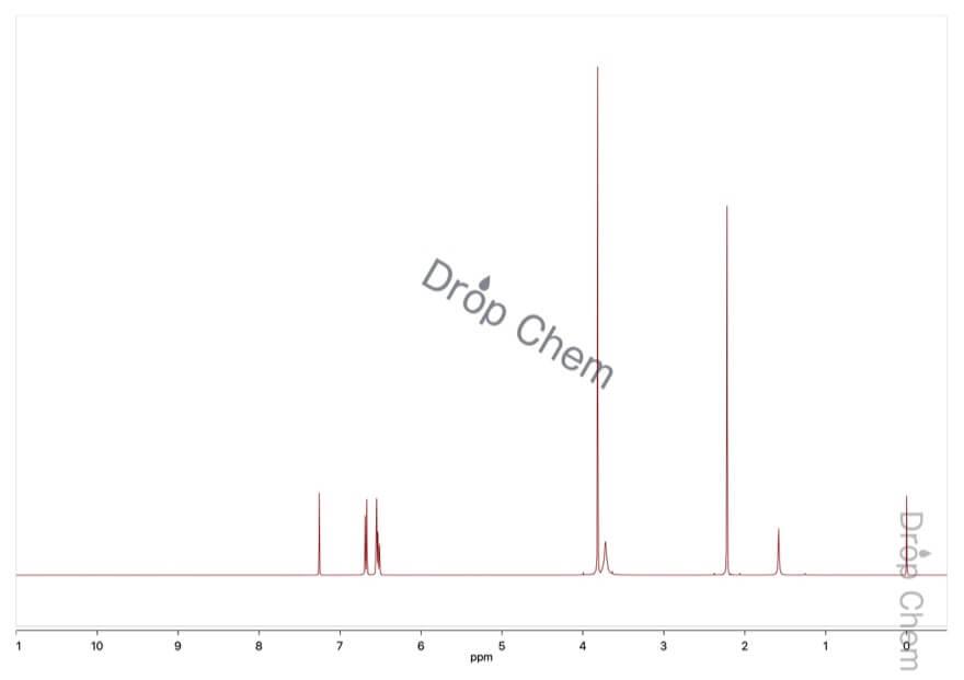 2-メトキシ-5-メチルアニリンの1HNMRスペクトル