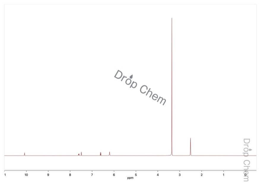 2-アミノ-5-ニトロフェノールの1HNMRスペクトル