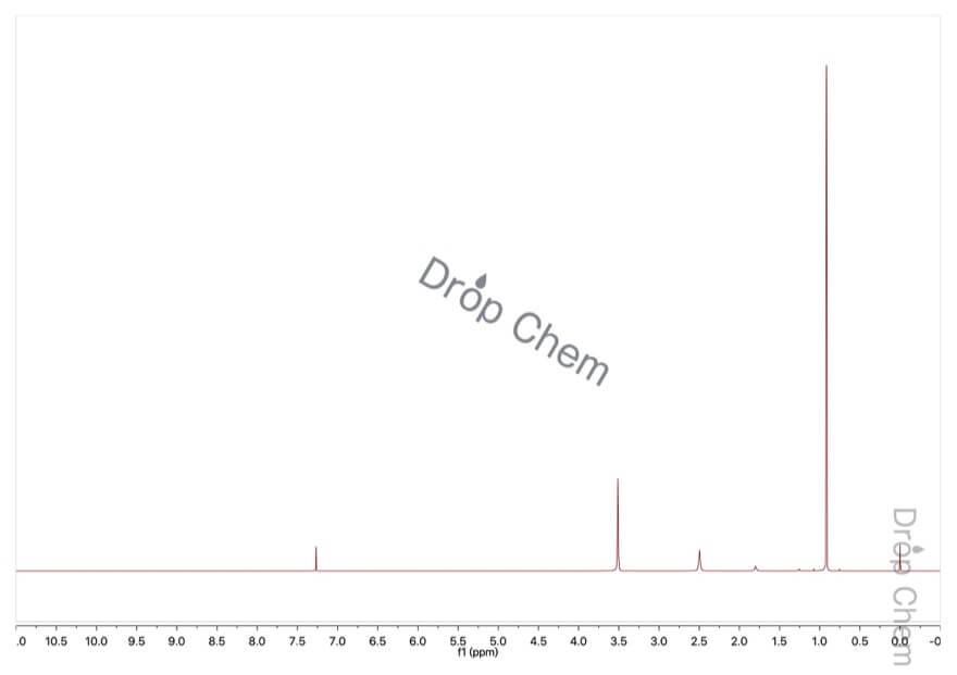 2,2-ジメチル-1,3-プロパンジオールの1HNMRスペクトル
