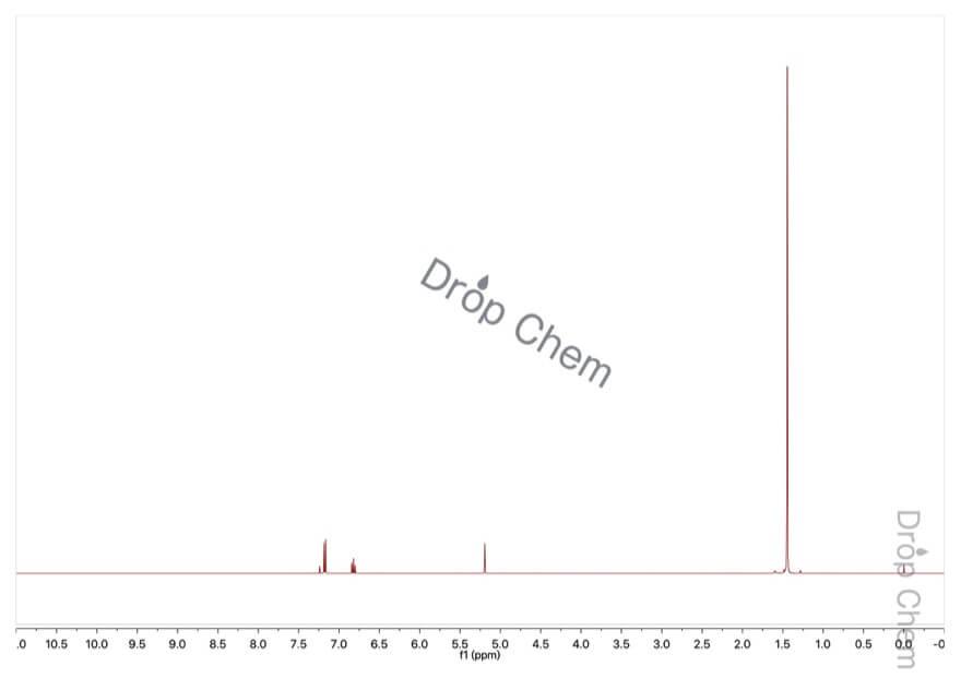 2,6-ジ-tert-ブチルフェノールの1HNMRスペクトル