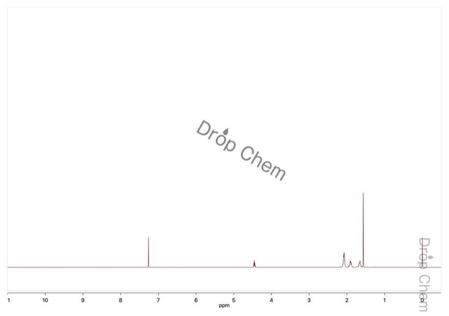 ブロモシクロペンタンの1HNMRスペクトル