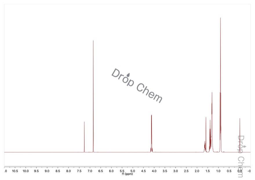 フマル酸ビス(2-エチルヘキシル)の1HNMRスペクトル