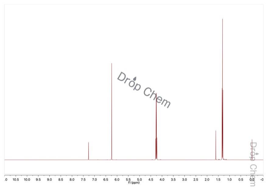 マレイン酸ジエチルの1HNMRスペクトル