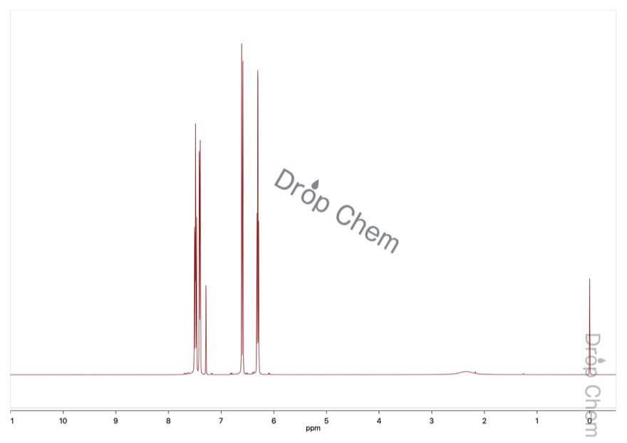 2-ヒドロキシピリジンの1HNMRスペクトル
