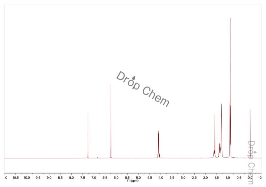 マレイン酸ビス(2-エチルヘキシル)の1HNMRスペクトル
