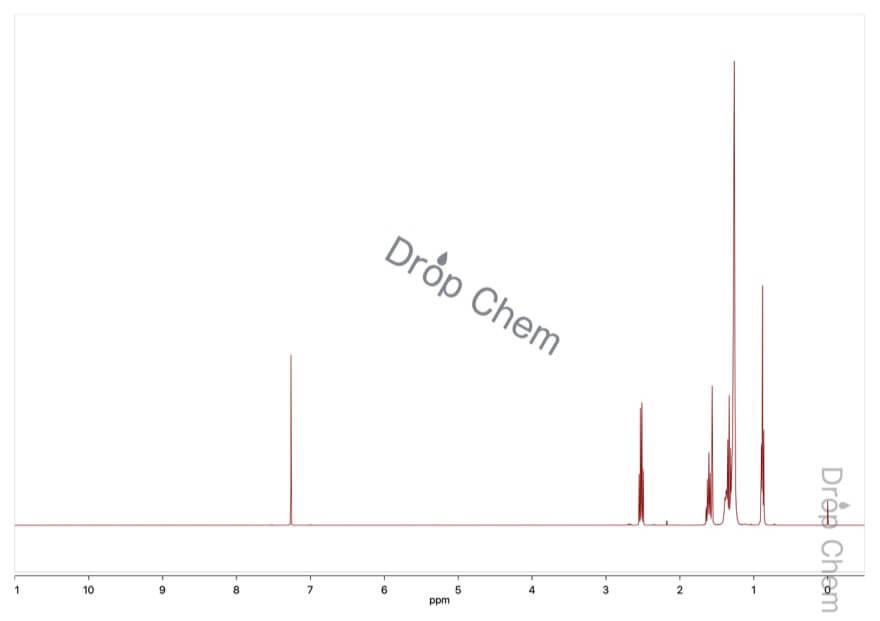1-デカンチオールの1HNMRスペクトル
