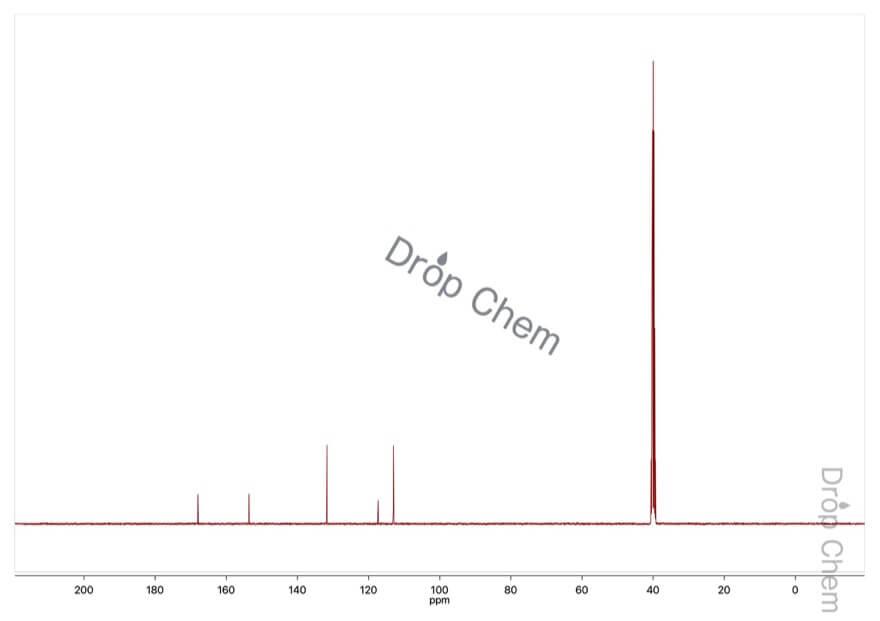 4-アミノ安息香酸の13CNMRスペクトル