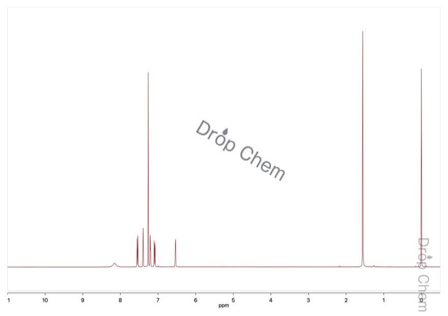 6-クロロインドールの1HNMRスペクトル