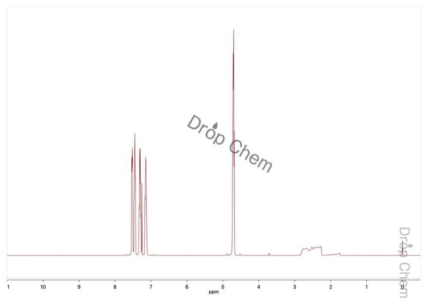 2-ブロモベンジルアルコールの1HNMRスペクトル