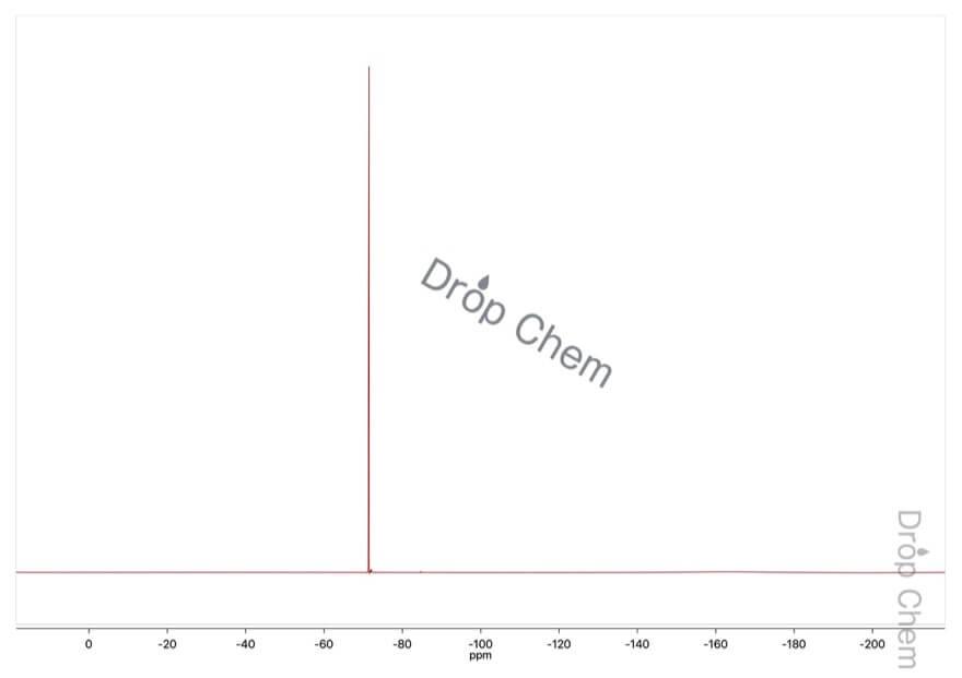 4'-クロロ-2,2,2-トリフルオロアセトフェノンの19FNMRスペクトル