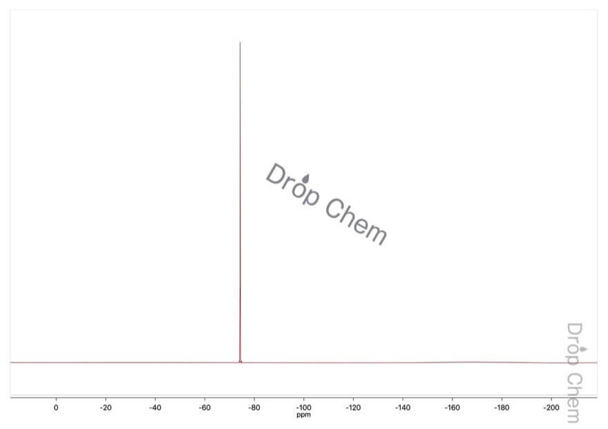 トリフルオロメタンスルホン酸メチルの19FNMRスペクトル